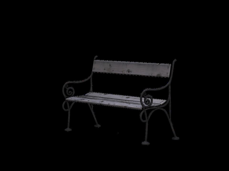 ספסל גינה מברזל