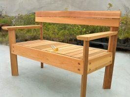 ספסל עץ לגינה